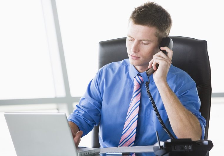 male giving it support over telephone