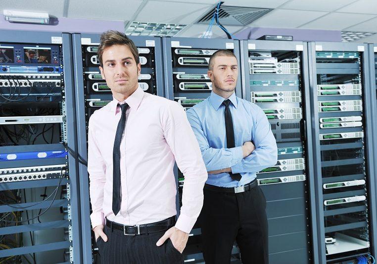 two it engineers in server room